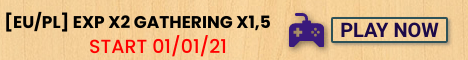 [EU/PL] PVE-C Start 1.01.21/ EXP x2 / G x 1,5 / 300 LVL /